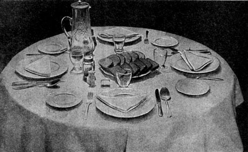 Сервировка стола для обеда