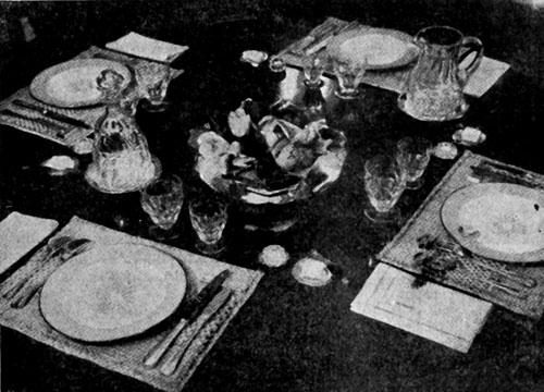 Сервировка стола для полдника