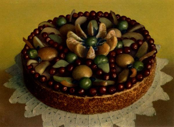 Торт песочно-фруктовый