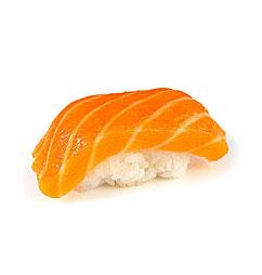 Нигири-суши с лососем (сяке)
